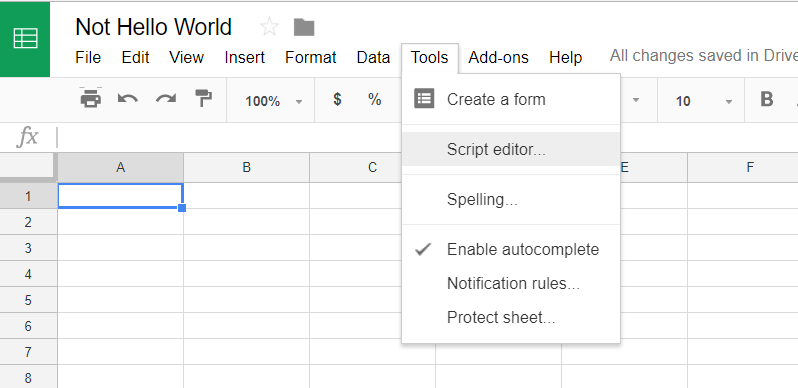 script editor Google