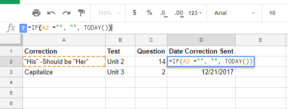 IF value DATE Google Sheets
